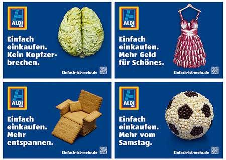 Plakatwerbung, Außenwerbung bei ALDI SÜD