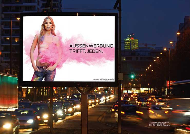 Werbemedien in der Außenwerbung